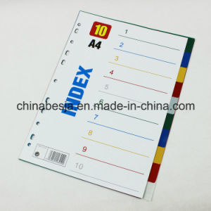 10 Pages Colored PP Index Divider Without Number Printed (BJ-9022) , China Manufacturer of Index Divider, China Factory of Index Divider. pictures & photos