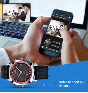 WiFi Watch Cameras Hidden Wireless Smart Video Recorder APP Monitor pictures & photos