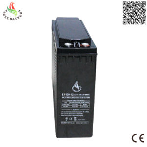 Front Terminal 12V 100ah Lead Acid Rechargeable Mf Solar Battery