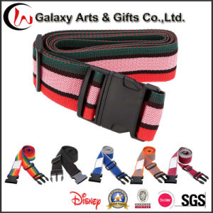 Adjustable Travel Luggage Belt Printed Packing Strap with Plastic Buckle