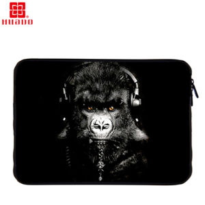"Canvas Laptop Bag Sleeve Case for 15"" Laptop Tablet Chimpanzee Pattern pictures & photos"