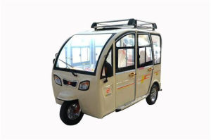 New and Comfortble Closed Body Electric Tricycle with Passenger Seat