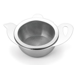 Mesh Wire Tea Filter with Tray Tea Strainer pictures & photos