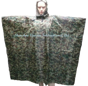 Waterproof Camouflage PVC Rain Poncho pictures & photos