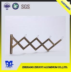 High End Telescopic Folding Aluminum Hanging Push Pull Balcony Clothes Hanger Stand pictures & photos