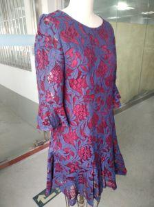 Spring Elegant Lace Flower Ladies Dress pictures & photos