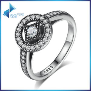Wowen Clear Cubic Zirconia 925 Silver Engagement Wedding Ring pictures & photos
