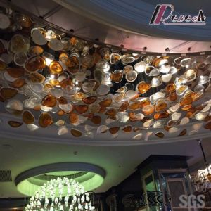Fashion and Round Big Size Glass Ceiling Lamp with Lobby pictures & photos