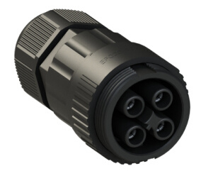 TUV/UL IP68 Waterproof Female Cable End Connector 4pin for LED Light