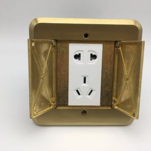 Muti-Function Copper Alloy 120*120mm 250V/10A Floor Socket Outlet pictures & photos