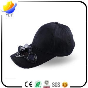 Custom Logo Sun Shading Solar Fan Cap pictures & photos