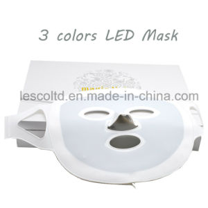 Photon LED Facial Mask 3 Colors Light Therapy pictures & photos