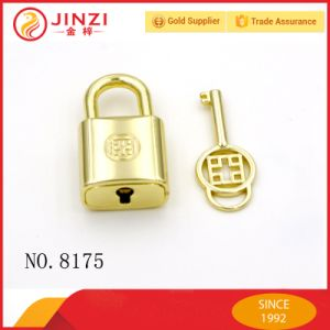 High Grade Chinese Element Key and Engraved Logo Padlock, Decorative Lock for Handbags pictures & photos