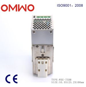 LED Single Output DIN Rail Power Supply Wxe-75dr-48 pictures & photos