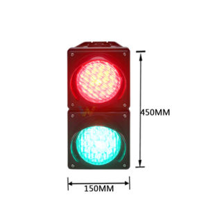 Customized 100mm PC Cobweb Lens Housing Mini LED Traffic Light pictures & photos