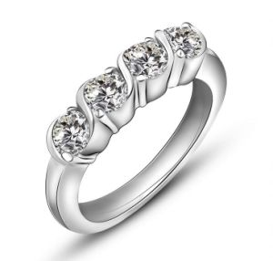 Platinum Plating Star Fashion Promise Ring Stainless Jewelry pictures & photos