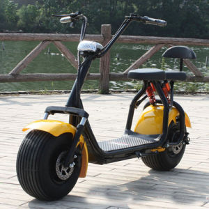 Electric Scooter with F/R Suspension, 2 Seats pictures & photos