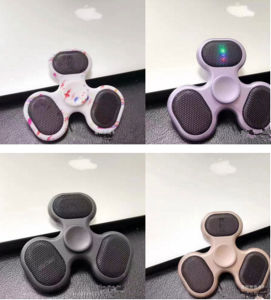 Colorful LED Hand Spinner TF Card Speaker Fidget Finger Spinner pictures & photos