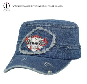 Military Cap Fidel Cap Baseball Cap Fedel Hat Military Hat Golf Cap Jeans Cap Washed Denim Cap pictures & photos