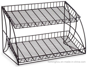 Tabletop Retail Store Metal 3-Tiered Snake Wire Shelving Display Rack pictures & photos