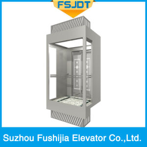 Sightseeing Panoramic Elevator with Gearless Traction Machine pictures & photos