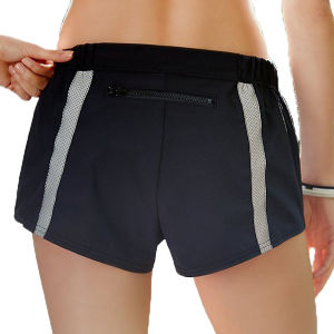 Women Polyester Yoga Shorts with Back Phone Pocket pictures & photos