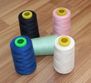 Colorful Sewing Thread of Polyester Dyed Yarn with 100% Virgin Fiber pictures & photos