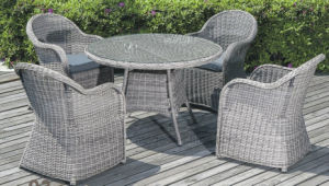 2016 Antique Furniture Vines Outdoor Cane Rattan Chair Set pictures & photos