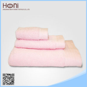 Plain Bath Towel 100% Cotton Towel Set Pink Cute Bath Towel