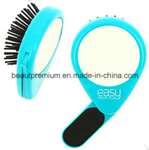Fashion Foldable Hair Comb with Mirror Pocket Mirror with Hair Brush BPS053