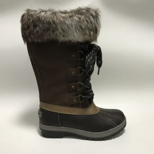 Women′s Leather Upper Fashion High Ankle Winter Waterproof Boots pictures & photos
