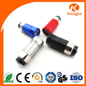 Rechargeable Aluminum Car Cigarette LED Light Mini Torch Car Flashlight