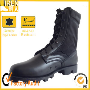 Black Genuine Leather Our Door Delta Military Boots pictures & photos