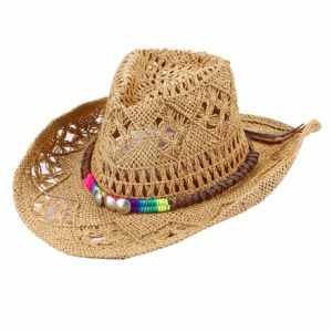 Womens Straw Western Cowgirl Hat pictures & photos