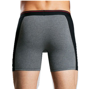 Men Long Style Cotton Boxer Underwear with Elastic Waistband pictures & photos