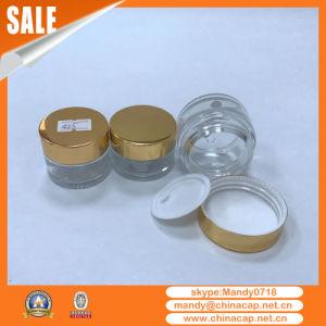 Wholesale Custom Aluminum Cream Jar Shinny Gold Lids pictures & photos