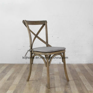 Factory Price Antique X Cross Back Oak Wood Dining Chair (RCH-4001) pictures & photos