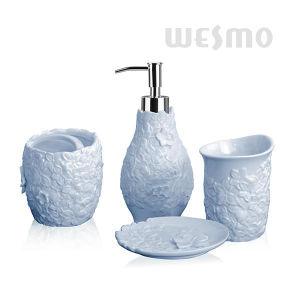 Elegant Embossed Porcelain Bathroom Set (WBC0890D) pictures & photos