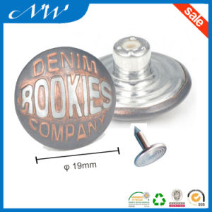Customized Spray Metal Buttons of Jeans Button pictures & photos