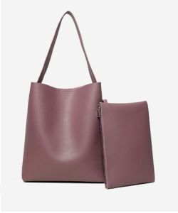 Fashion Women PU Leather Shopper Tote of Simplicity with Large Space pictures & photos