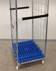 2-Sides Foldable Pallet Roll Container Roll Cage pictures & photos