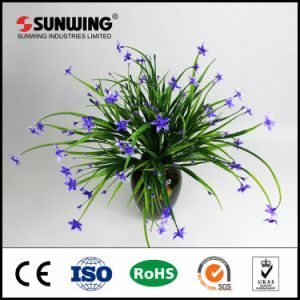Popular Promotional Artificial Green Grass Sprig Plant pictures & photos