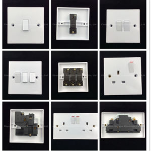 Bakelite High Quality Double 13A Switch Socket (8336SD) pictures & photos