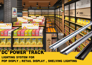 White DC Power Track Lighting System for Shelve Lighting pictures & photos