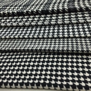 Kinds of Houndstooth Black & White Wool Fabric pictures & photos
