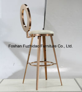PU Cushion Wholesales Cheap Stainless Steel Bar Table and Chair pictures & photos