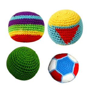 Customized Promotional Gift Kick Hacky Sack Knitted Crochet Footbag Ball pictures & photos
