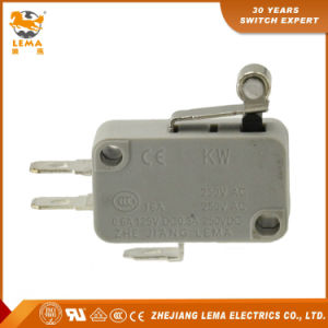 Lema Kw7-3 Grey Roller Lever Actuator Magnetic Micro Switch Micro Basic Switch pictures & photos