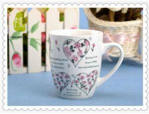 Porcelain Coffee Mug Cup 12oz Fine Full Flower Decal Porcelain Mug pictures & photos