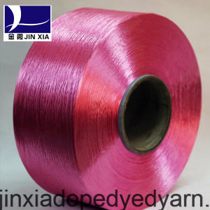 FDY Dope Dyed 500d/144f Filament Polyester Yarn pictures & photos